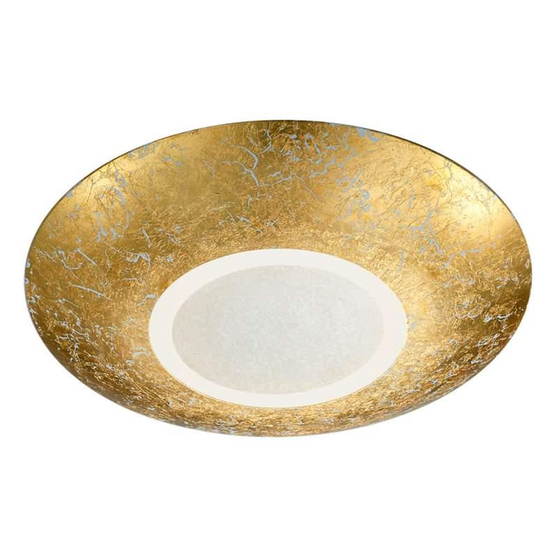 Led plafondlamp Chiros rond, goud