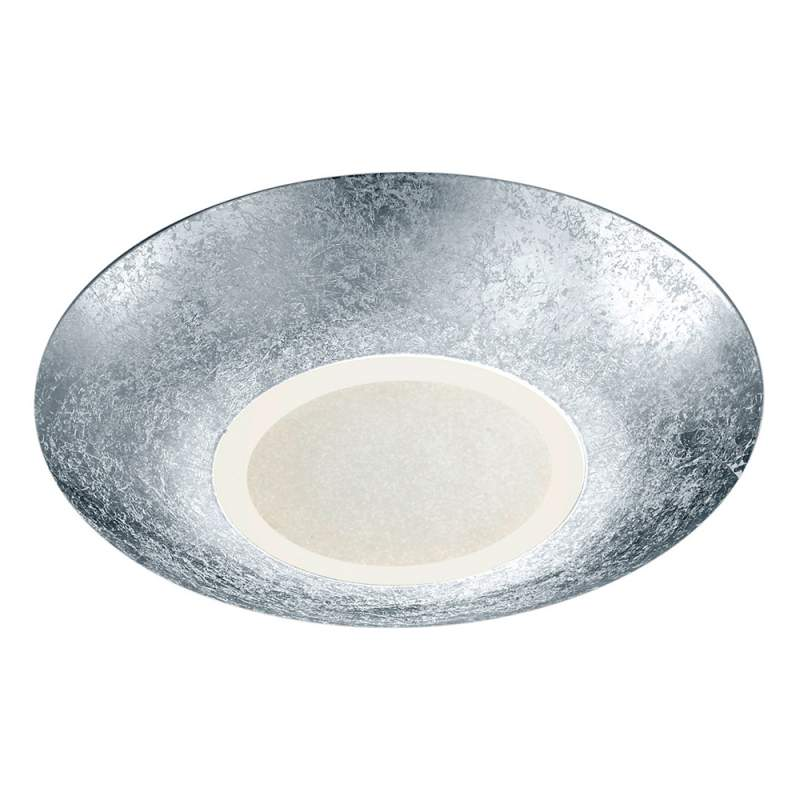 Zilverkleurige led plafondlamp Chiros, rond