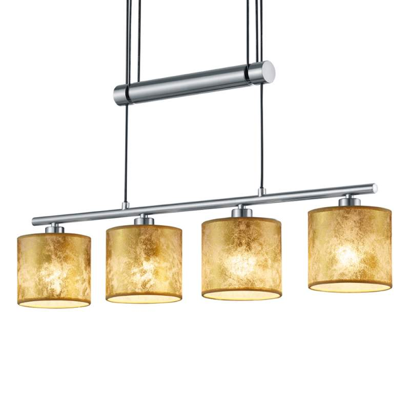 Kunststof kappen goud - hanglamp Garda 4-flg.