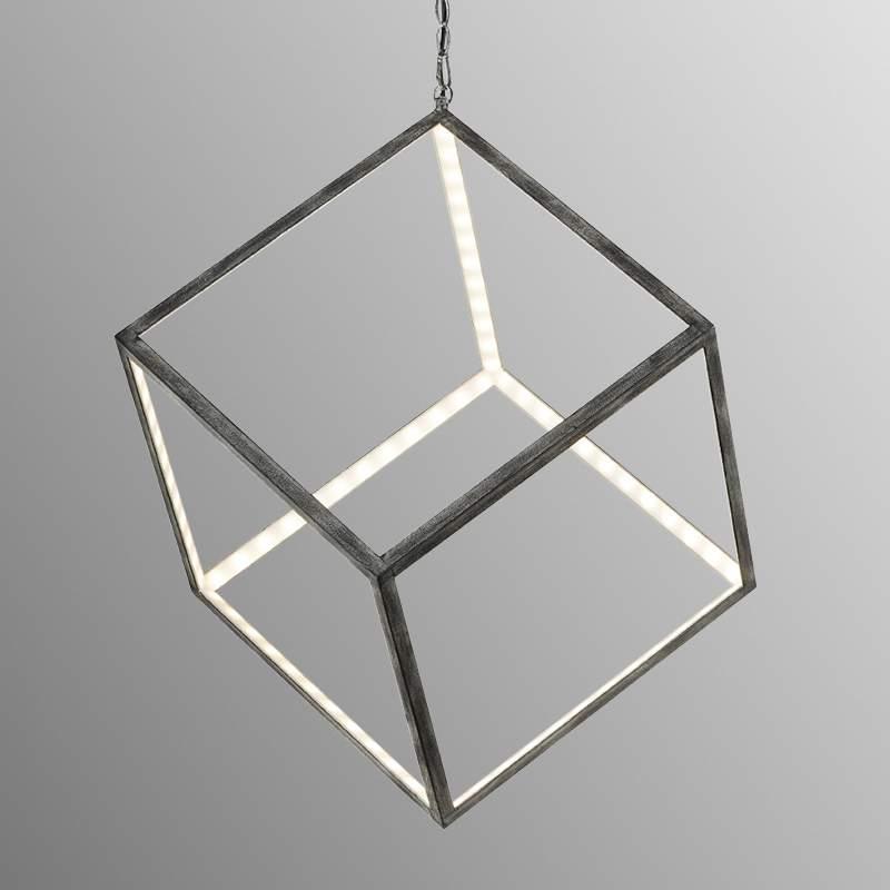Ongebruikelijke led hanglamp Dice 40 cm
