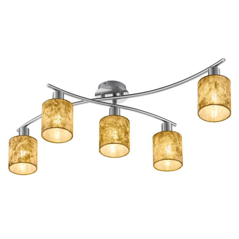 Plastic kappen in goud - plafondlamp Garda