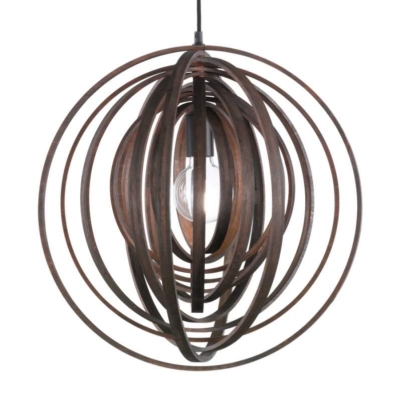 Ongebruikelijke hanglamp Boolan - bruine kap