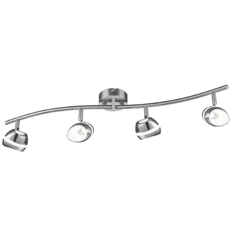 Puristische led plafondlamp Shark, vierflammig