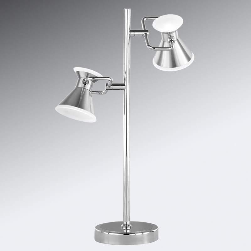 Tijdloze led tafellamp Duke, tweeflammig