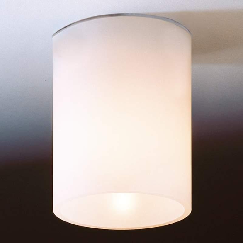 Witte plafondlamp DELA SHORT van glas