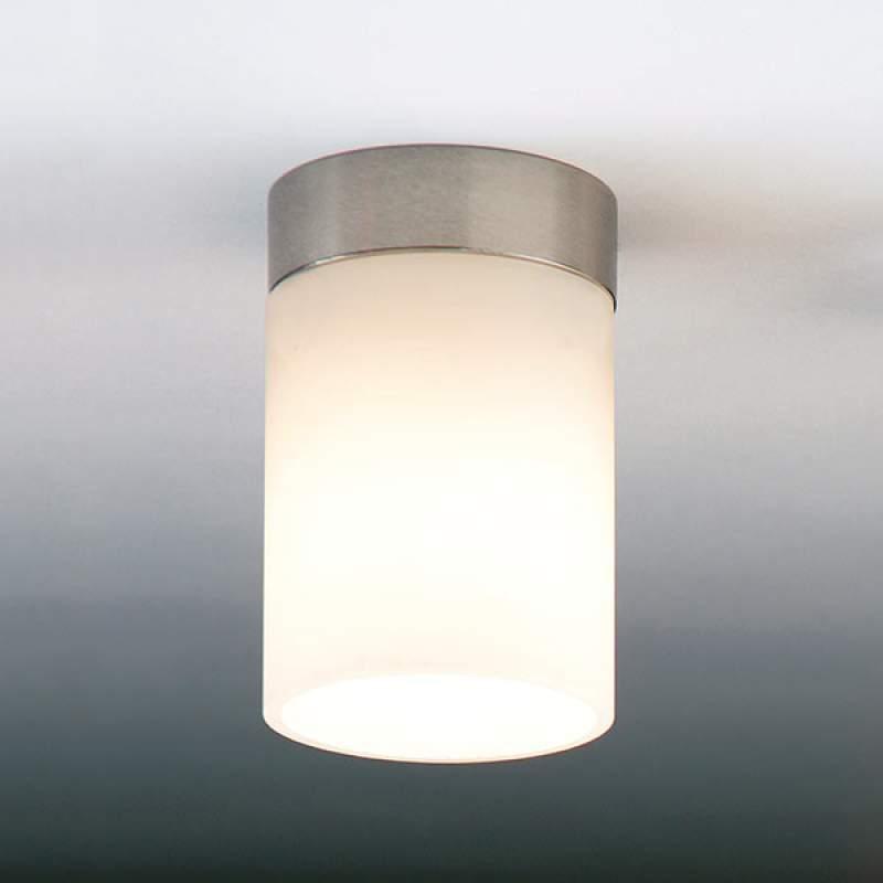 Bescheiden plafondlamp DELA BOX SHORT, mat nikkel
