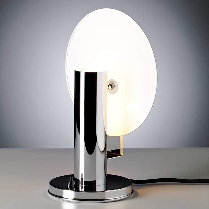 De Stijl - tafellamp met verchroomde armatuur