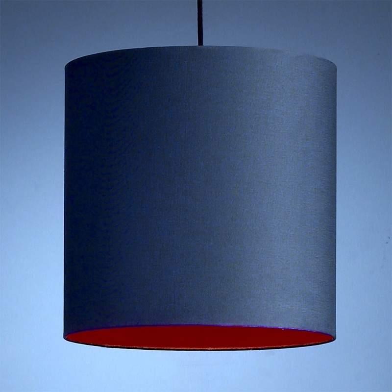Design-pendellamp, antraciet-rood
