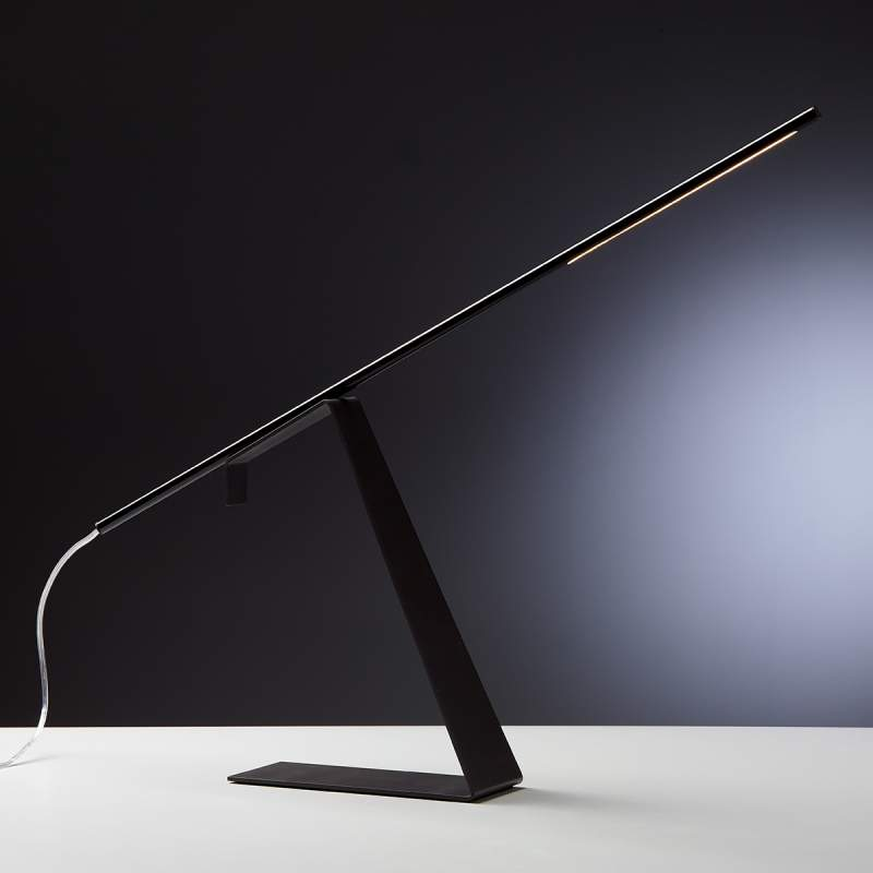 Zwarte led design tafellamp Jella