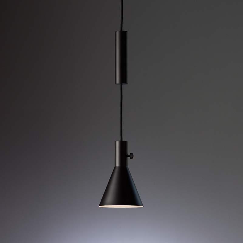 Mat zwarte led hanglamp Eleu