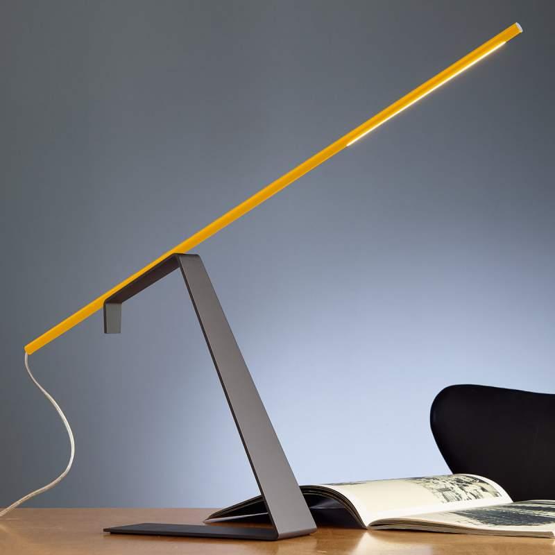 Gele designer bureaulamp Jella met led's