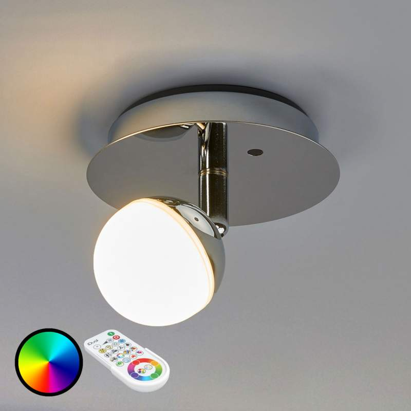 Aanstuurbare RGB-LED wandlamp Olivine