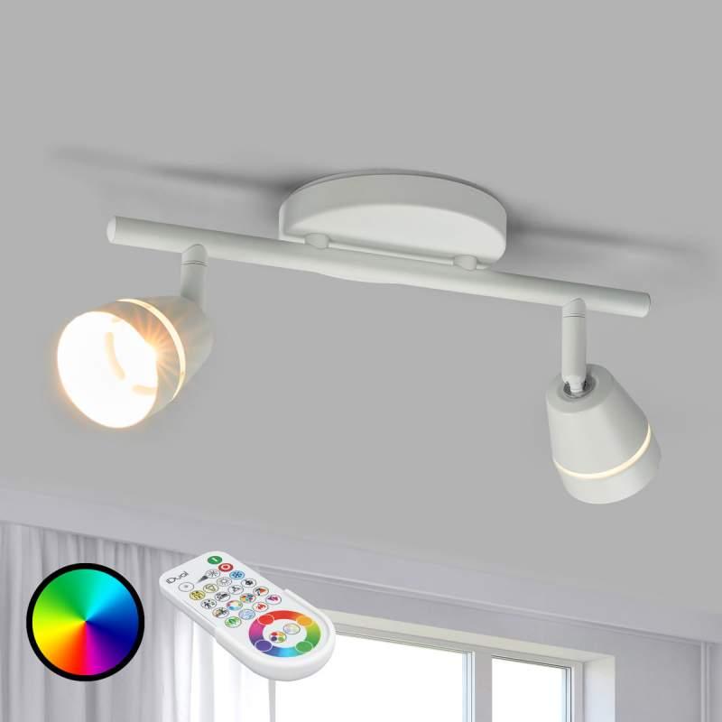2-Koppige LED plafondspot Ivory, aanstuurbaar