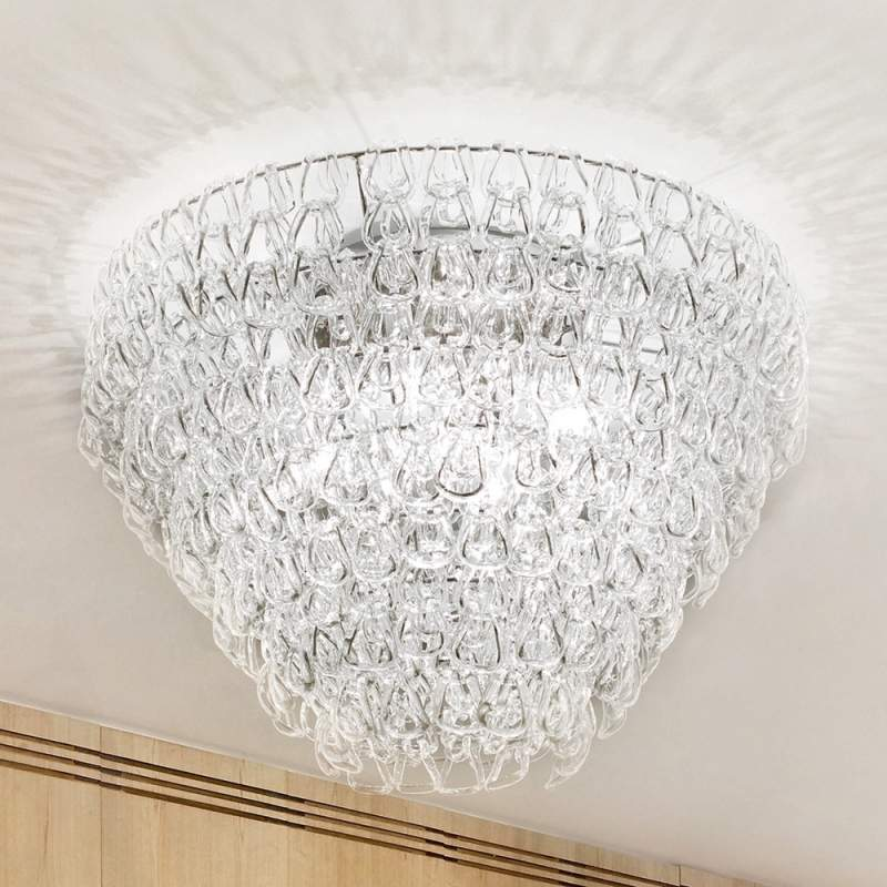 Glazen plafondlamp GIOGALI, 50 cm
