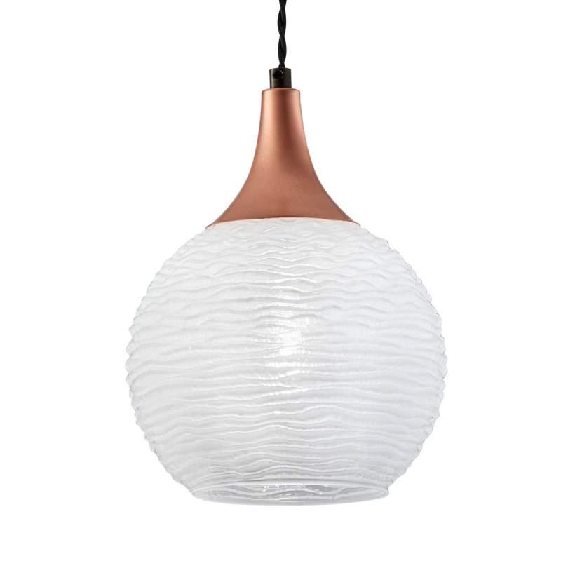 Witte glazen hanglamp Fiona