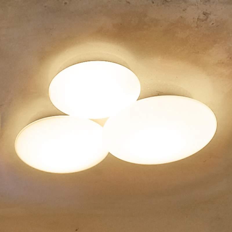 Drieflammige plafondlamp Puck