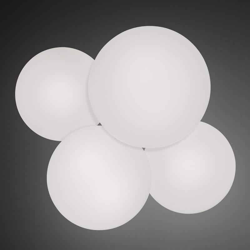 Vierflammige plafondlamp Puck