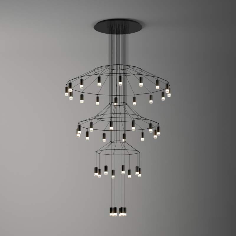 Imposante led hanglamp Wireflow