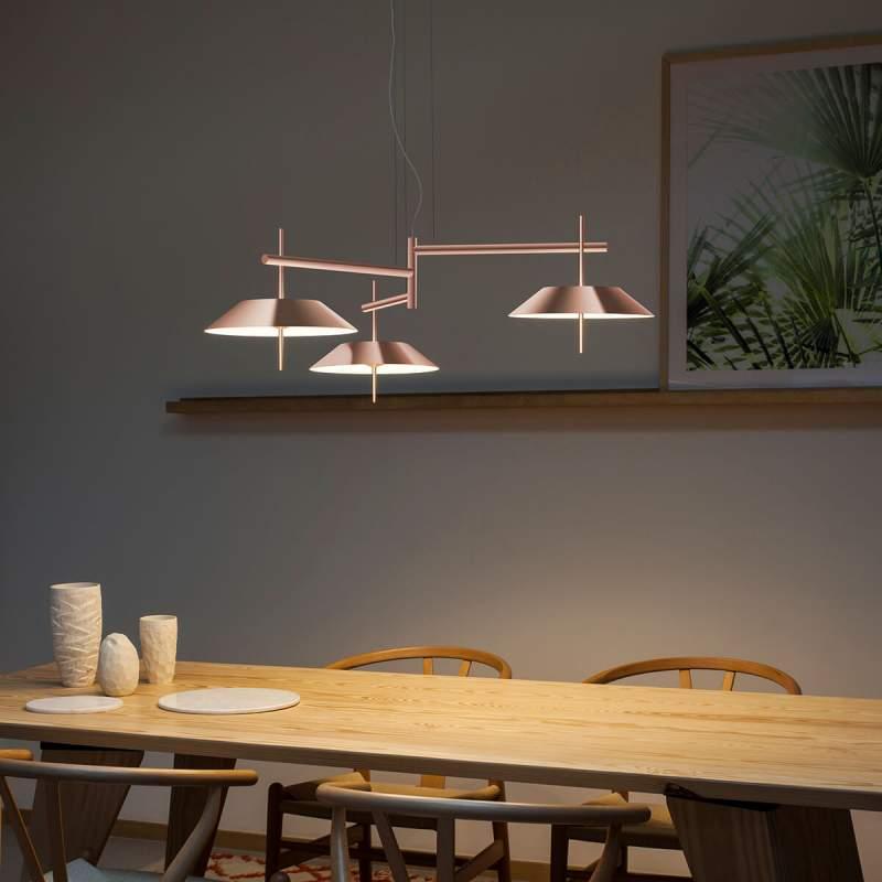 Grafietgrijze led hanglamp Mayfair, 3-fl.