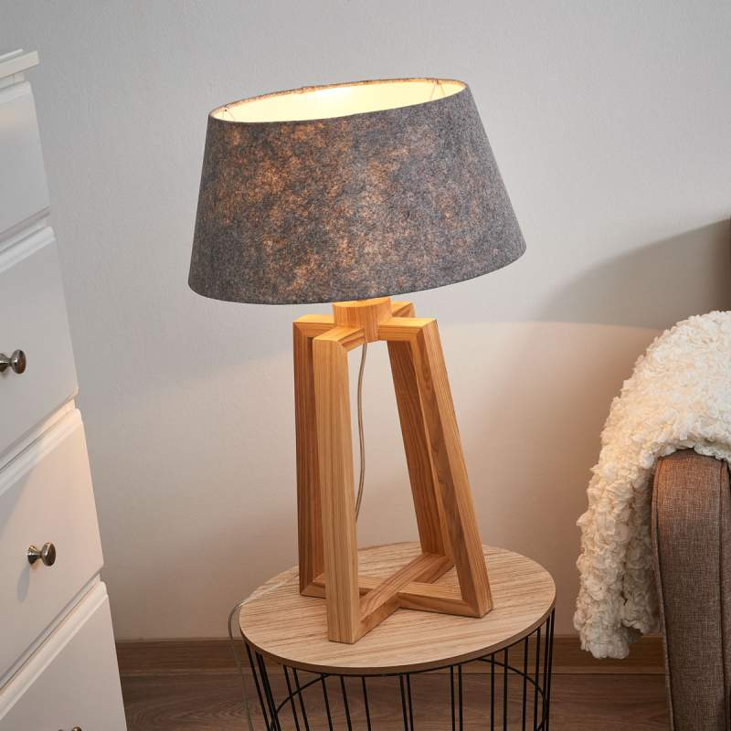 Bijzondere textiel tafellamp Lasse