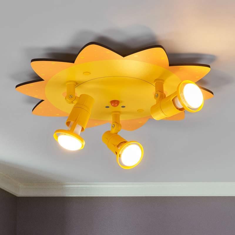 Grappige plafondlamp SUNSHINE, 3 lichts