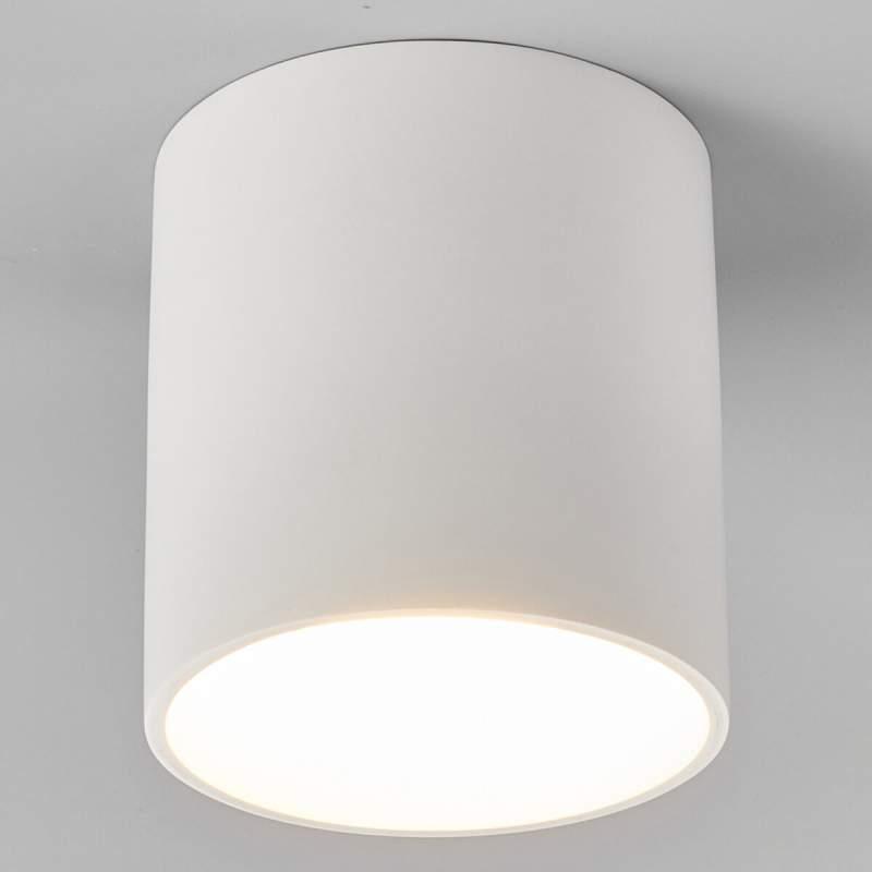 Emia - LED plafondlamp uit gips, ronde vorm