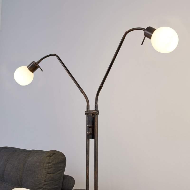 Roestkleurige LED-vloerlamp Elaina