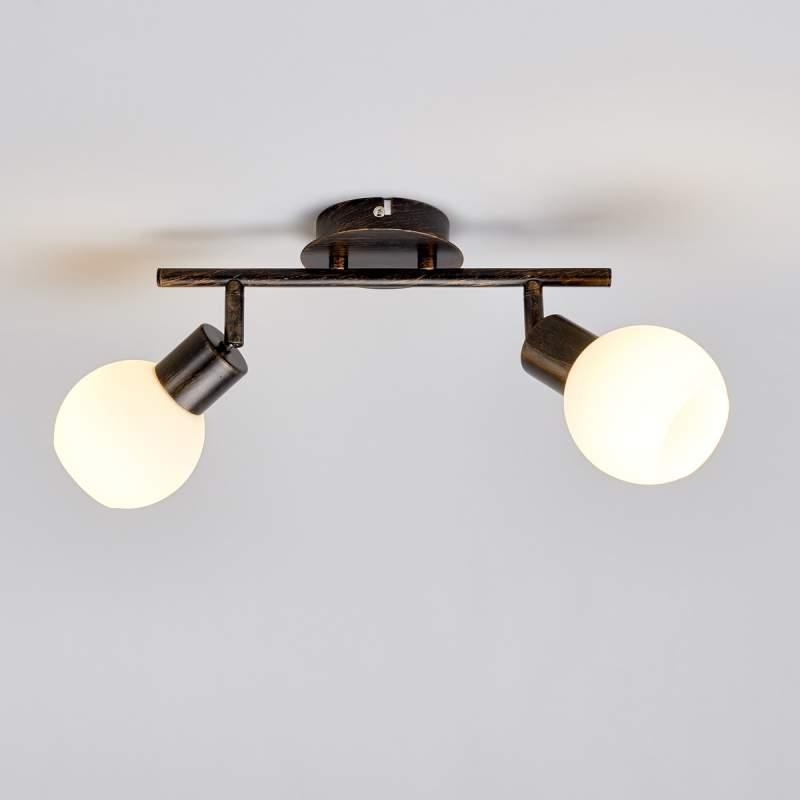 Roestbruine plafondlamp Elaina met E14 LED-lampen