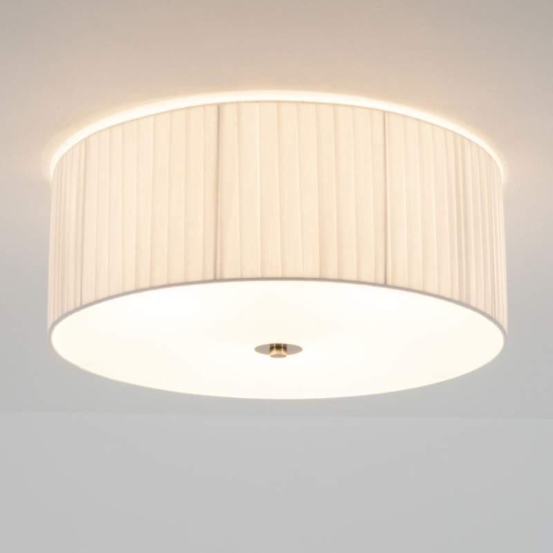 Plissee plafondlamp Melda met diffuser