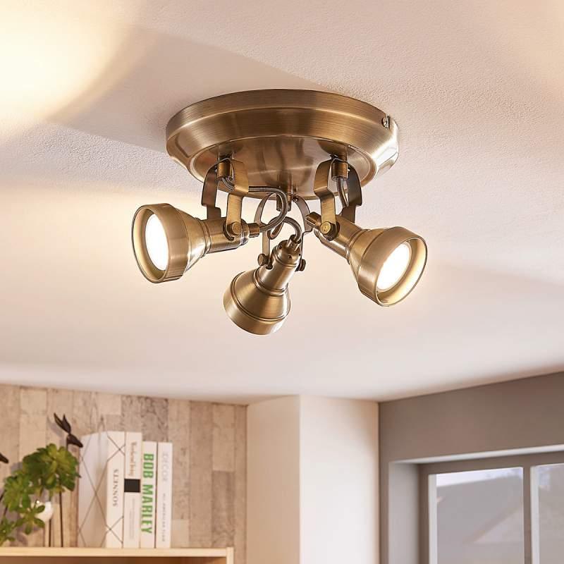 Perseas - GU10-LED-plafondrondel, 3-lamps