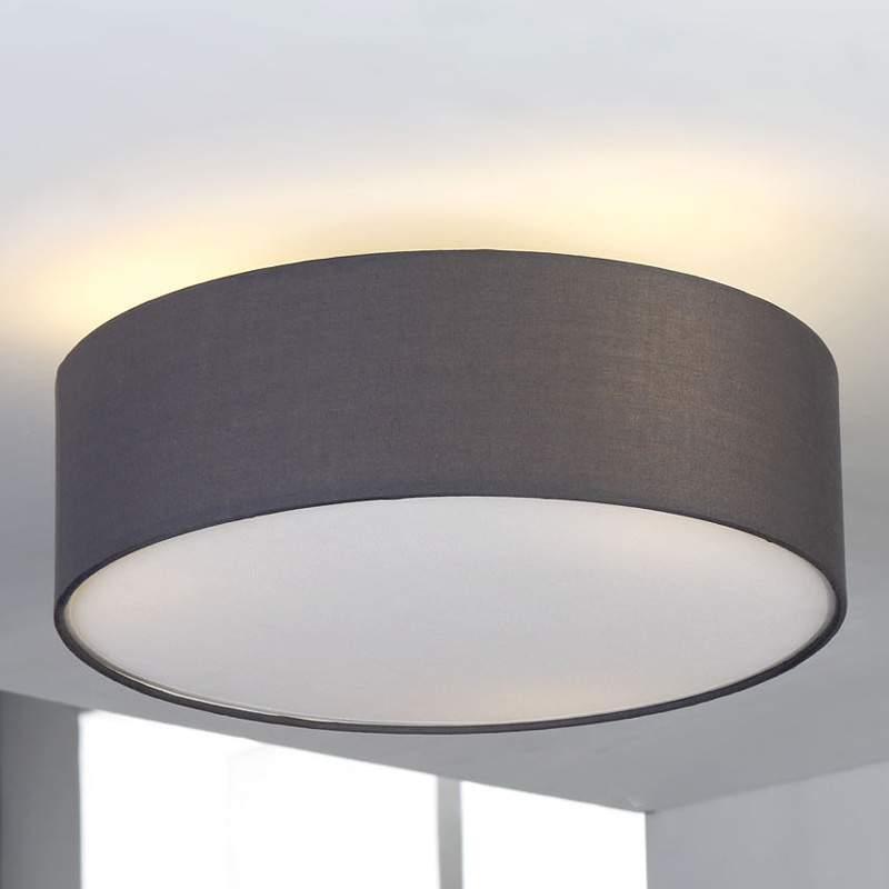 Grijze plafondlamp Sebatin van stof