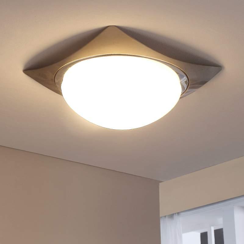 Fabiane - plafondlamp van glas en metaal, E27 LED