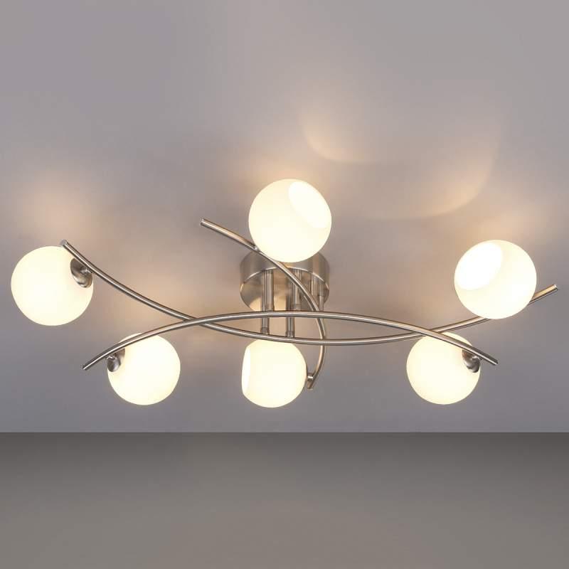 Muriel - opaalglazen plafondlamp voor de woonkamer