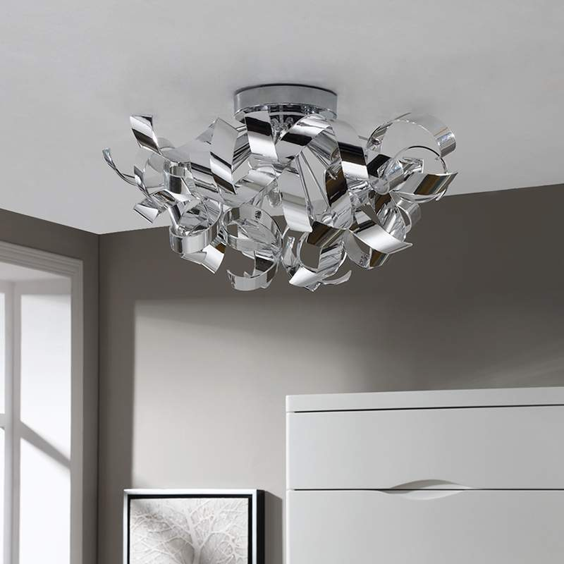 Siervolle chromen plafondlamp Elviro