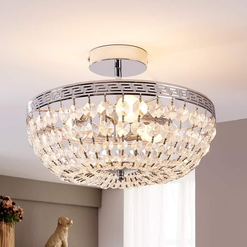 Fonkelende kristallen plafondlamp Mondrian