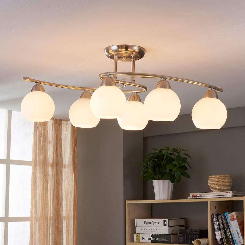 Eetkamer-plafondlamp Svean, 6-lamps