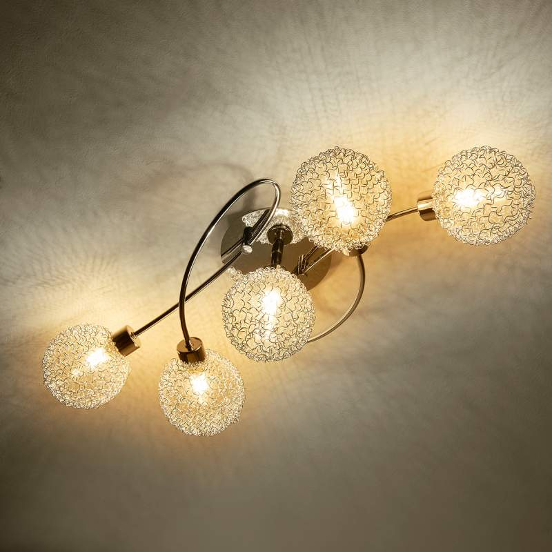 Speels ogende LED-plafondlamp Ticino
