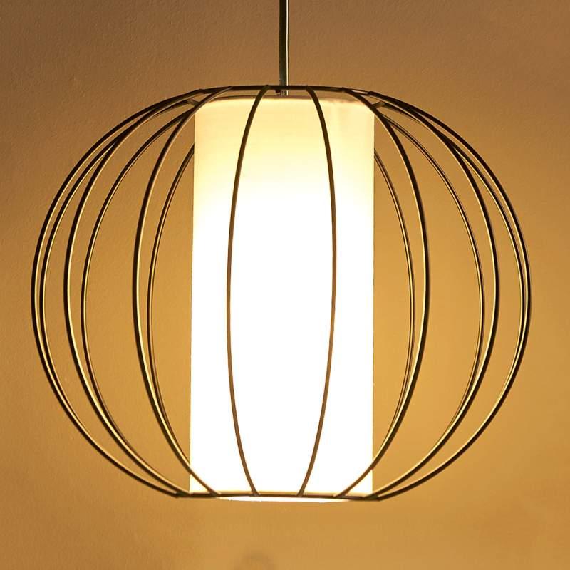 Jinan - hanglamp van metaal en stof