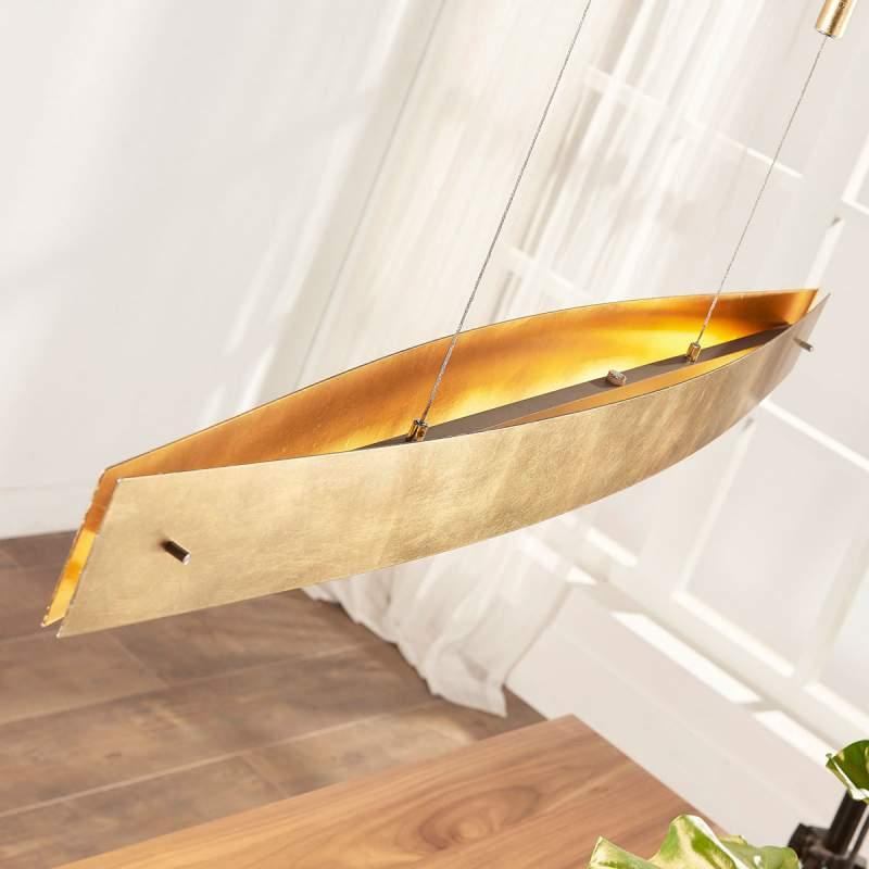 Aantrekkelijke, goudkleurige LED-pendellamp Lio