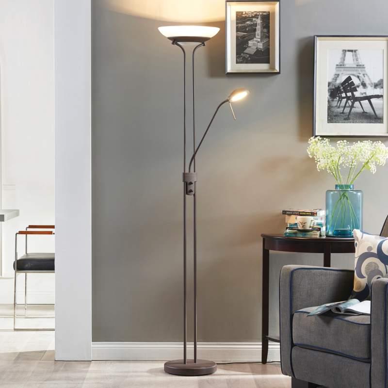 Yveta - roestkleurige LED plafondspot met dimmer