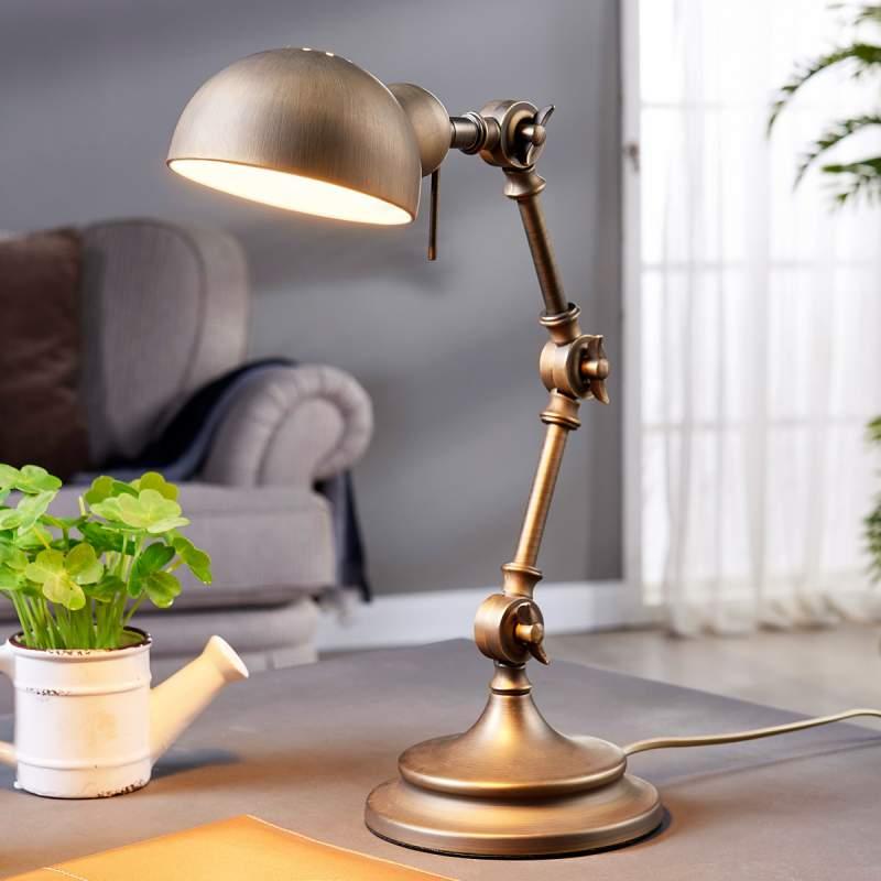 Ellisen - bureaulamp in het brons