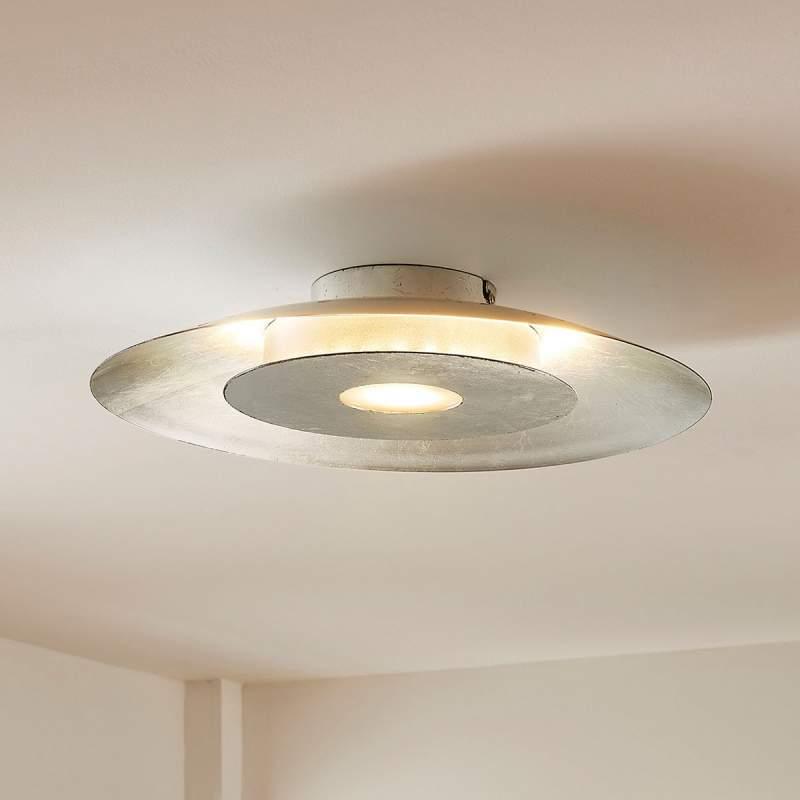 Martina - led-plafondlamp met zilverfolie