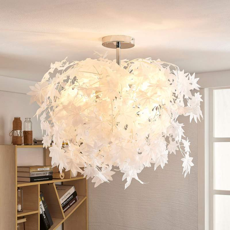 Betoverende plafondlamp Maple met bladeren