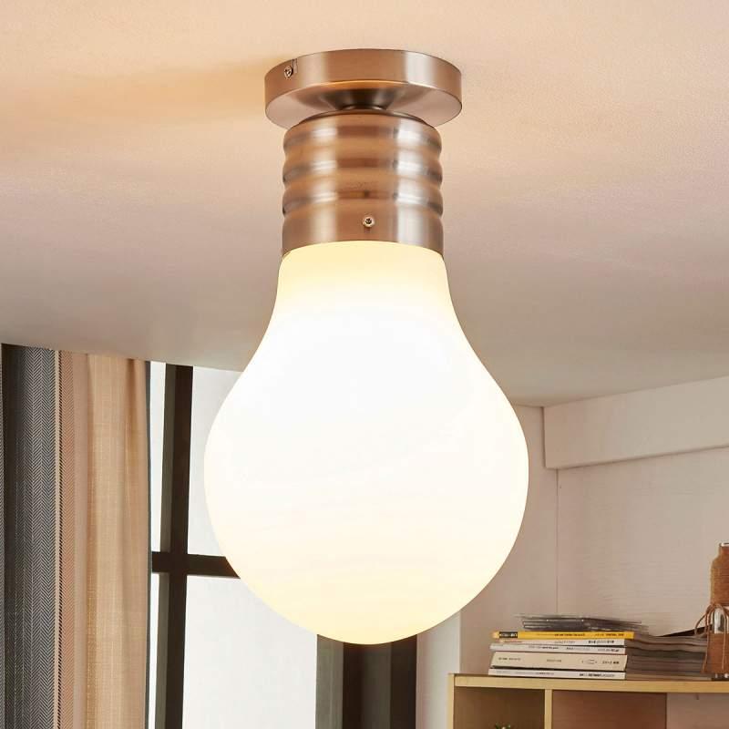 Gloeilamp vormige led plafondlamp Bado, dimbaar