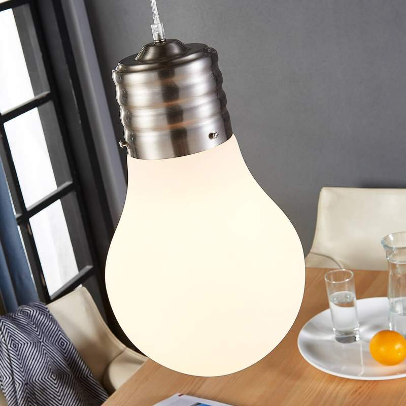 Dimbare led hanglamp Bado in bolvorm