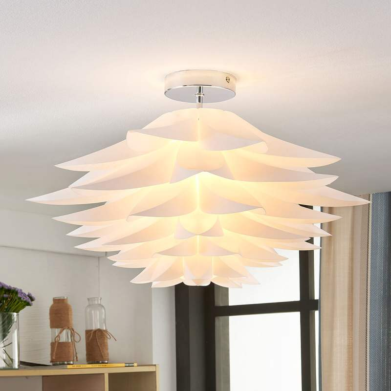 Rimon - plafondlamp met bloemen in het wit