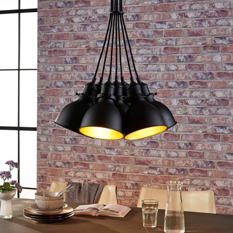 Lira 7-lichts hanglamp in gebundelde vorm