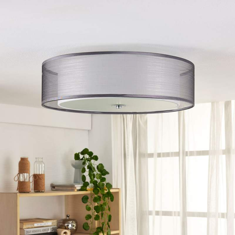 Via schakelaar dimbare LED plafondlamp Tobia, gr.