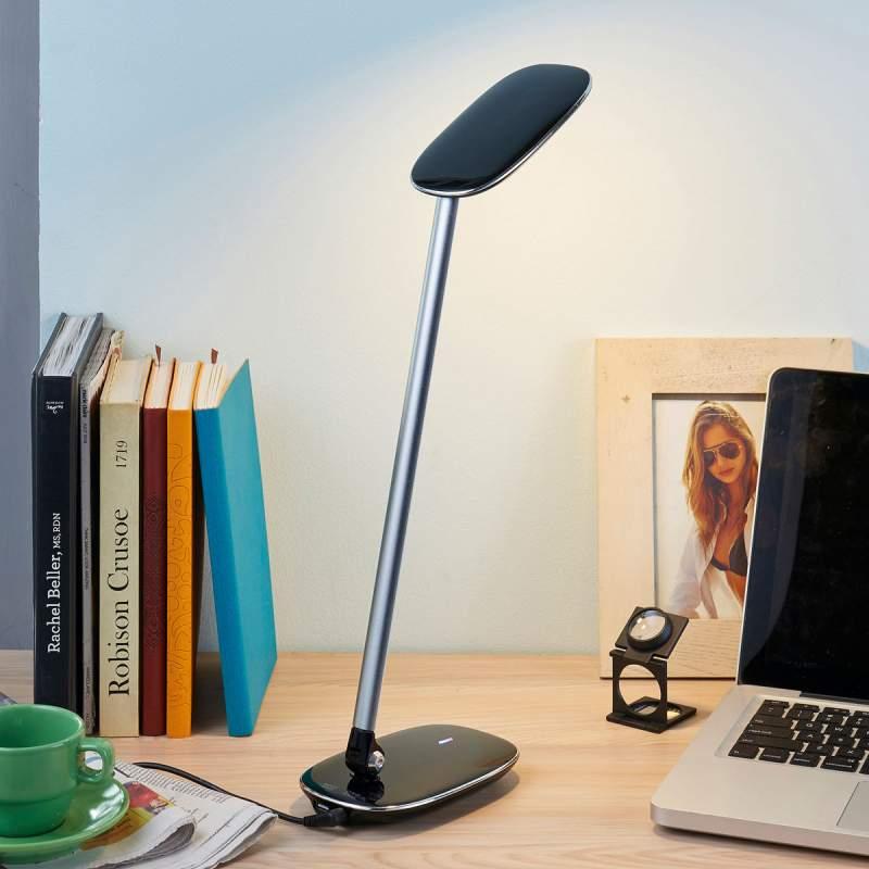 Zwarte LED bureaulamp Verena