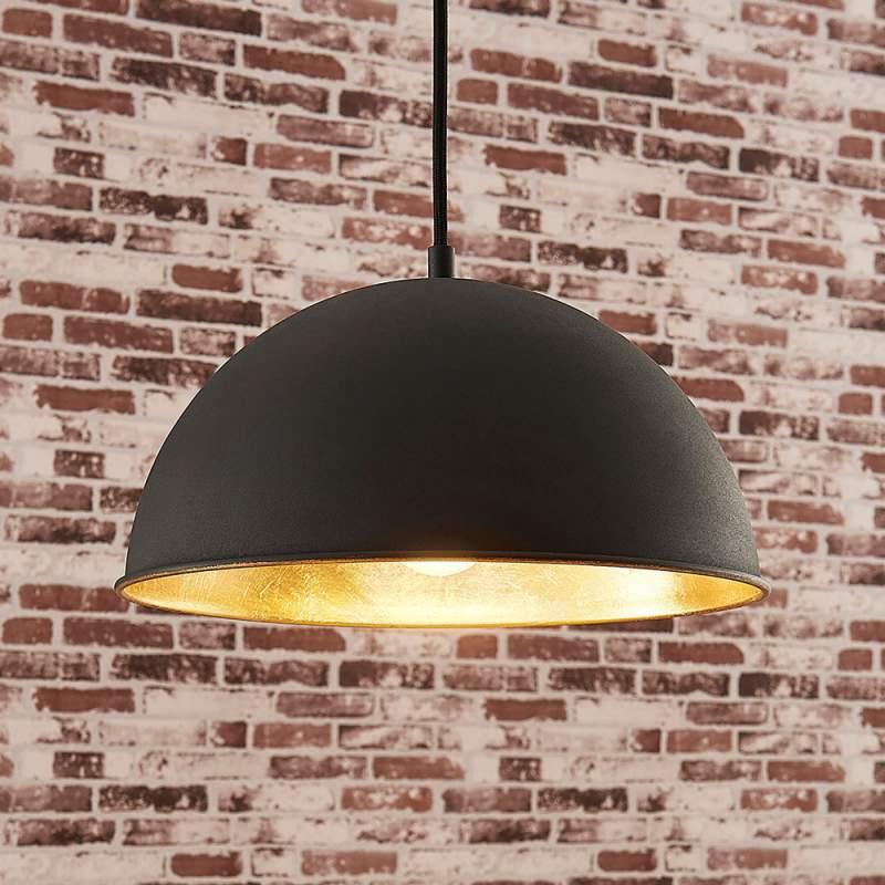Zwart-gouden hanglamp Leya